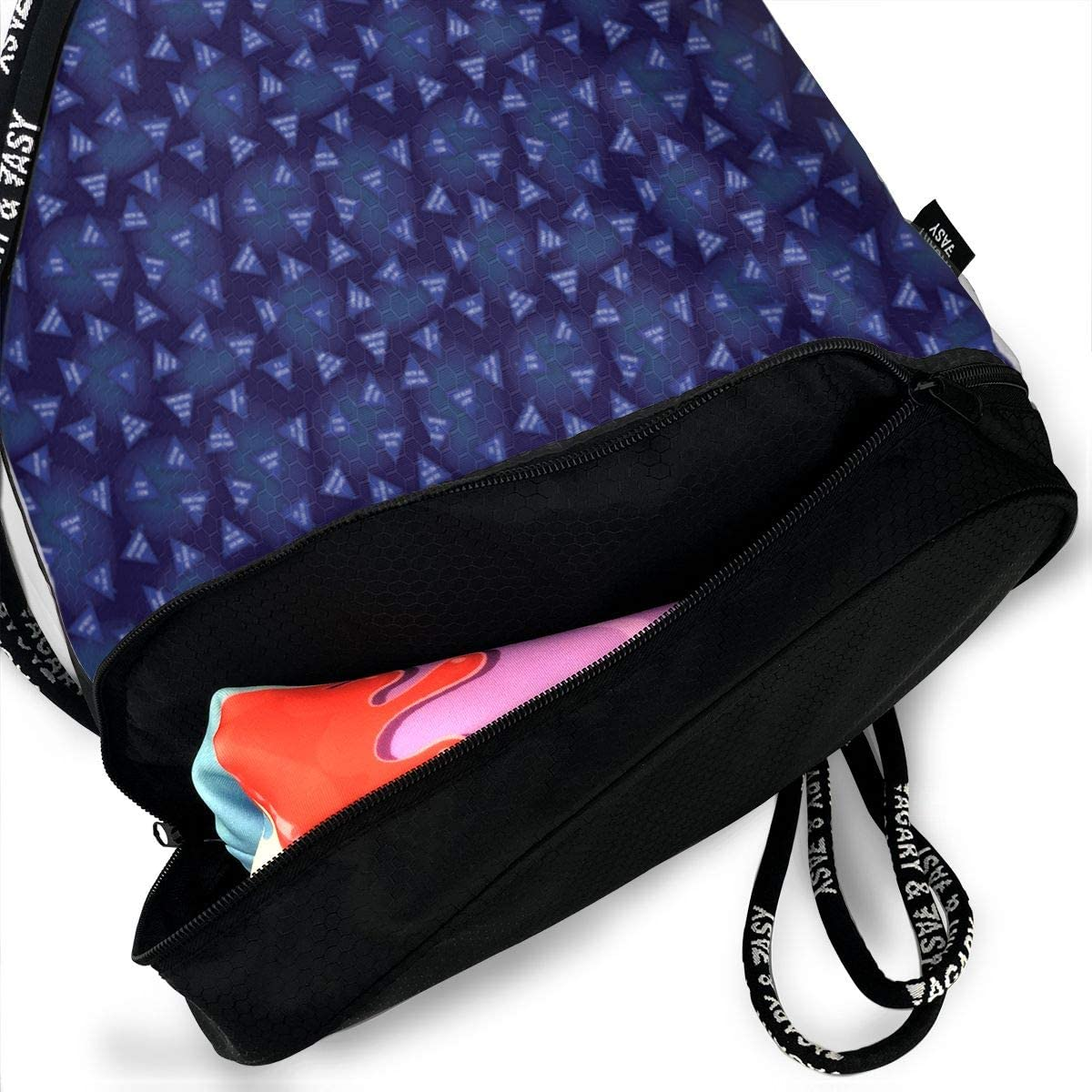 Magic 8 Ball Drawstring Backpack Sports Athletic Gym Cinch Sack String Storage Bags for Hiking Travel Beach