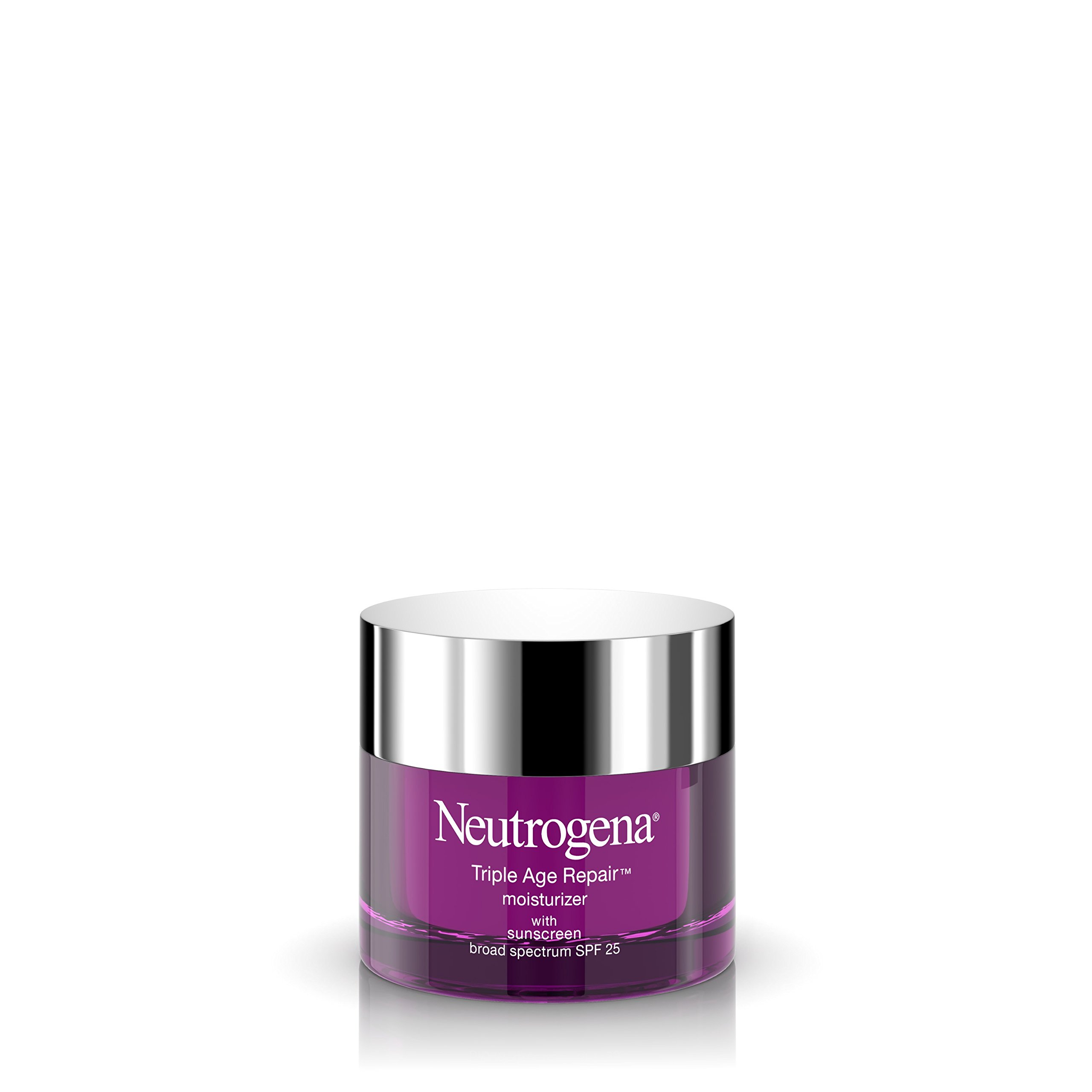 Neutrogena Triple Age Repair Anti-Aging Face Moisturizer with SPF 25 Sunscreen & Vitamin C, Dark Spot Remover & Firming Face & Neck Cream with Glycerin & Shea Butter, 1.7 oz by Neutrogena