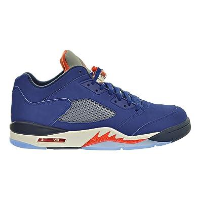 1ab394b433d2 Jordan Air 5 Retro Men s Shoes Deep Royal Blue Team Orange Midnight Navy  819171