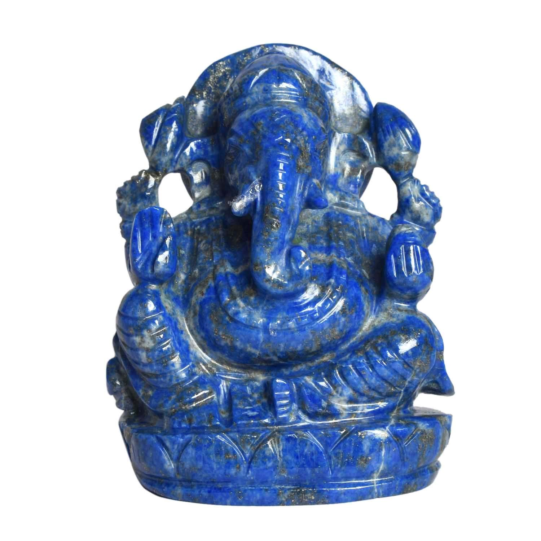gemhub Lapis Lazuli Ganesha Statue Approximately 1354.00 Ct God Ganesh, Ganpati Statue, Lord Ganesha Idol - Gift Item Showpiece