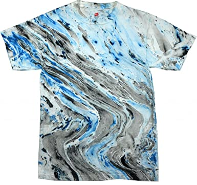 Amazon.com: Buy Cool Shirts Mens Tie Dye Shirt Black Blue Marble ...
