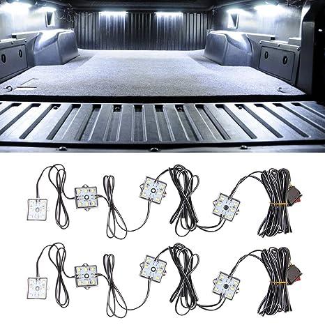 Camión cama Kit, easynew 48 Super brillante luz de color blanco LED IP68 impermeable sistema