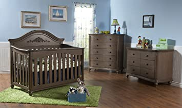 Bon Pali Gardena 3 Piece Nursery Set   Crib, Double Dresser, Five Drawer  Dresser In