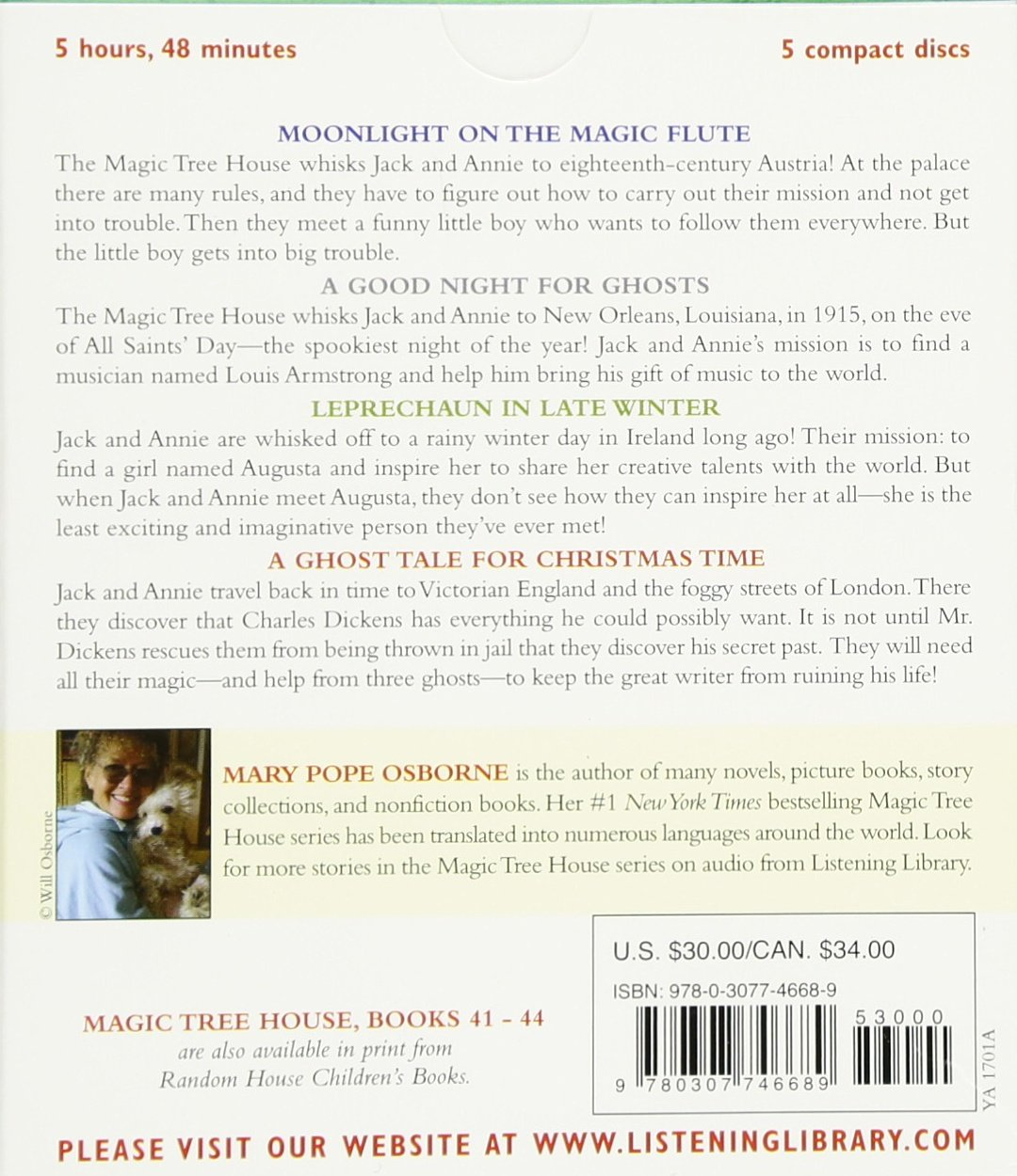 Author Of Magic Treehouse Books Part - 40: Magic Tree House Collection: Books 41-44: #41 Moonlight On The Magic Flute;  #42 A Good Night For Ghosts; #43 Leprechaun In Late Winter; #44 A Ghost  Tale For ...