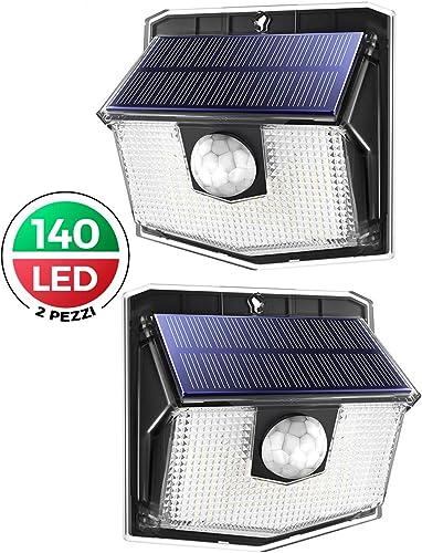 LUCI LED Energia Solare Spot Parete Luci Giardino Luce Esterno Impermeabile Yard Lampade