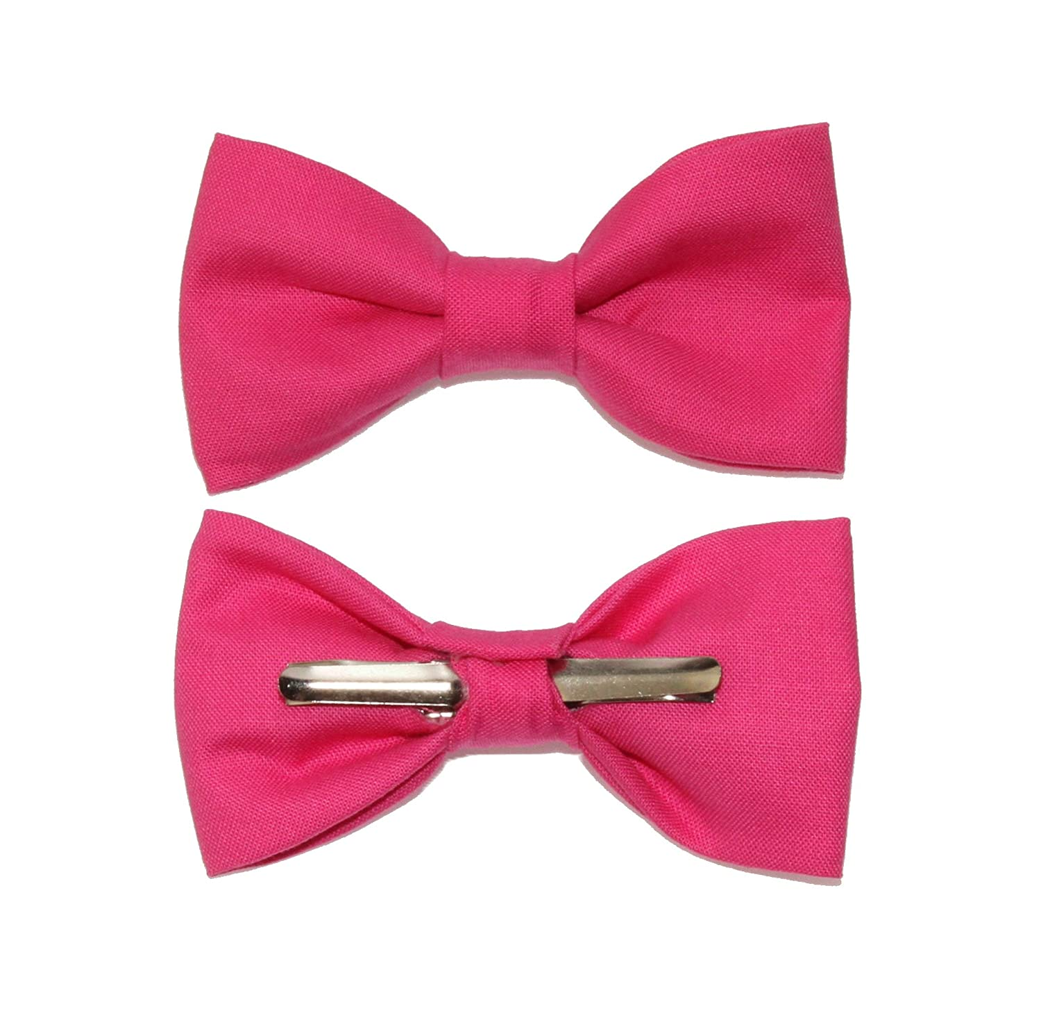 Toddler Boy 4T 5T Bright Pink Clip On Cotton Bow Tie Made In The USA