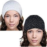 Sparkling Rhinestone and Dots Wide Elastic Headband