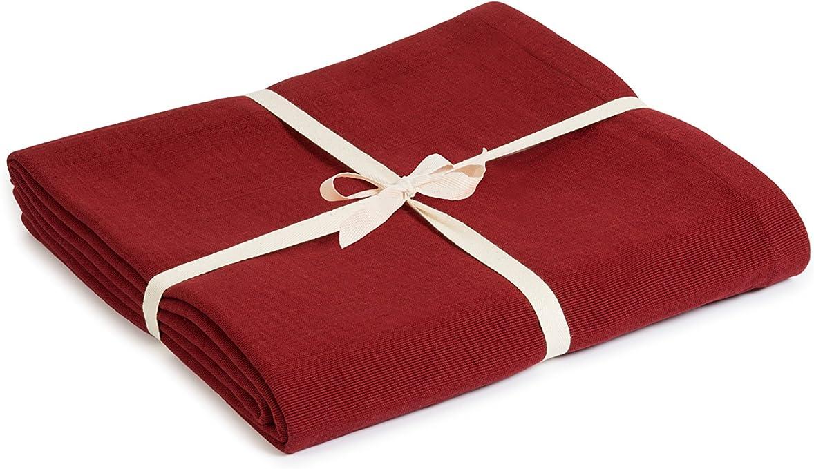 Estudio de Yoga algodón orgánico Yoga manta, granate: Amazon.es ...