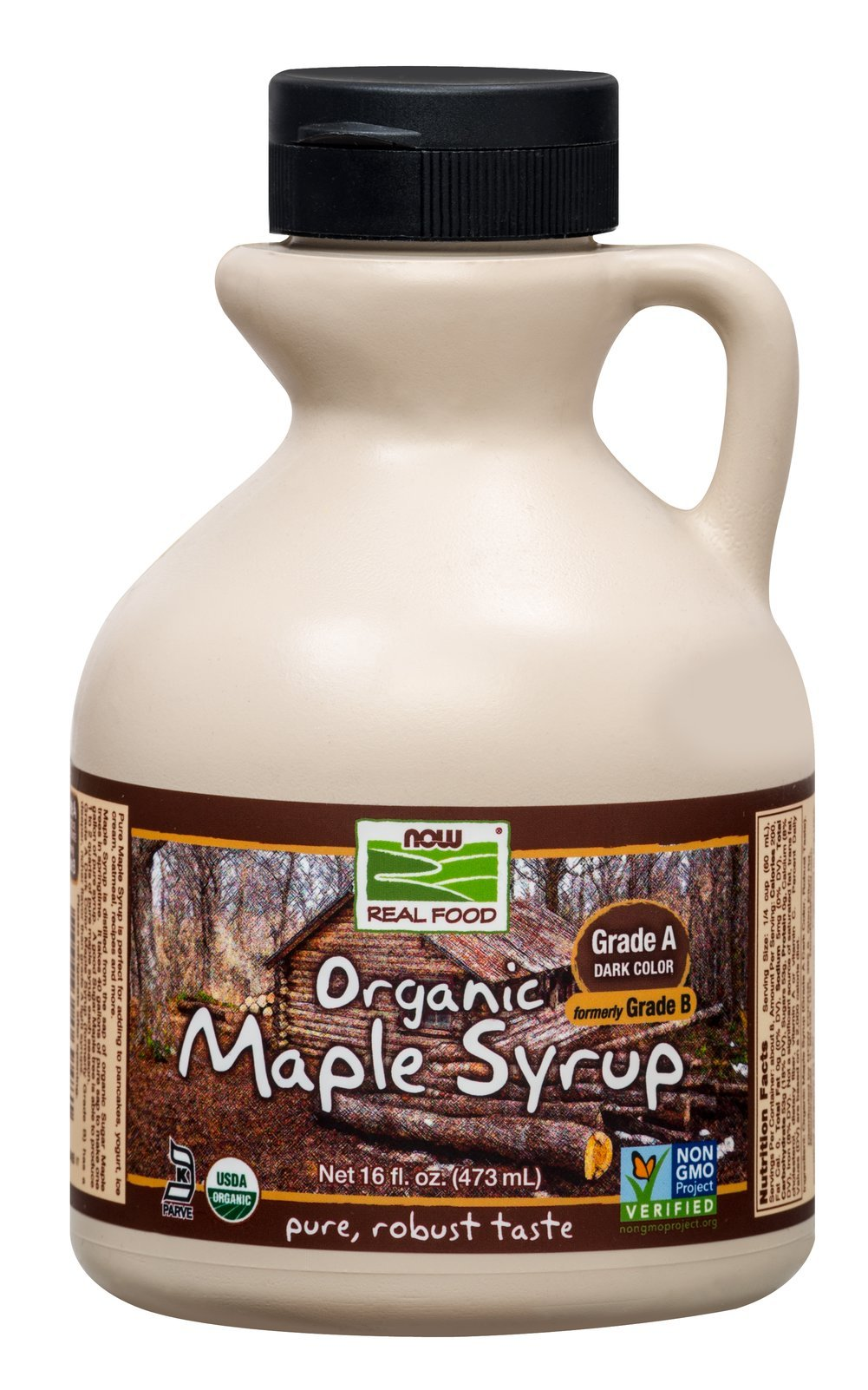 NOW Foods Organic 100% Pure Maple Syrup-16 oz Container