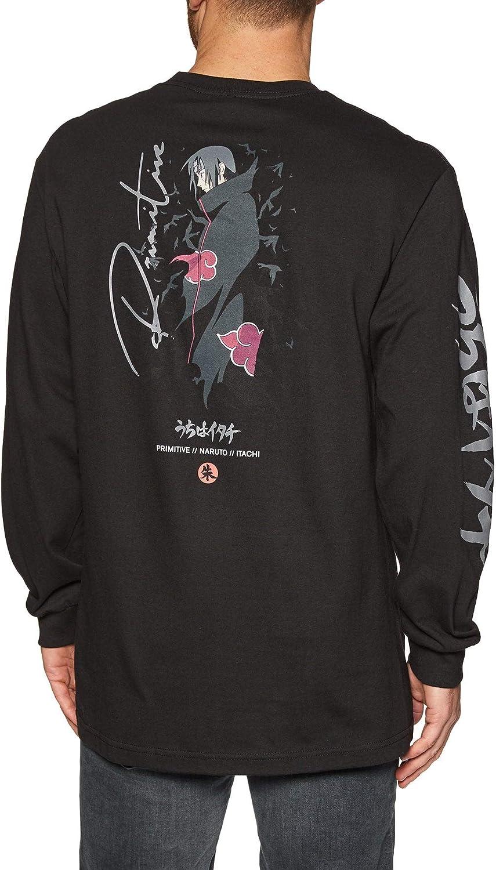 Primitive x Naruto - Camiseta de Manga Larga para Hombre, diseño de Cuervos Negro Negro (S: Amazon.es: Ropa y accesorios