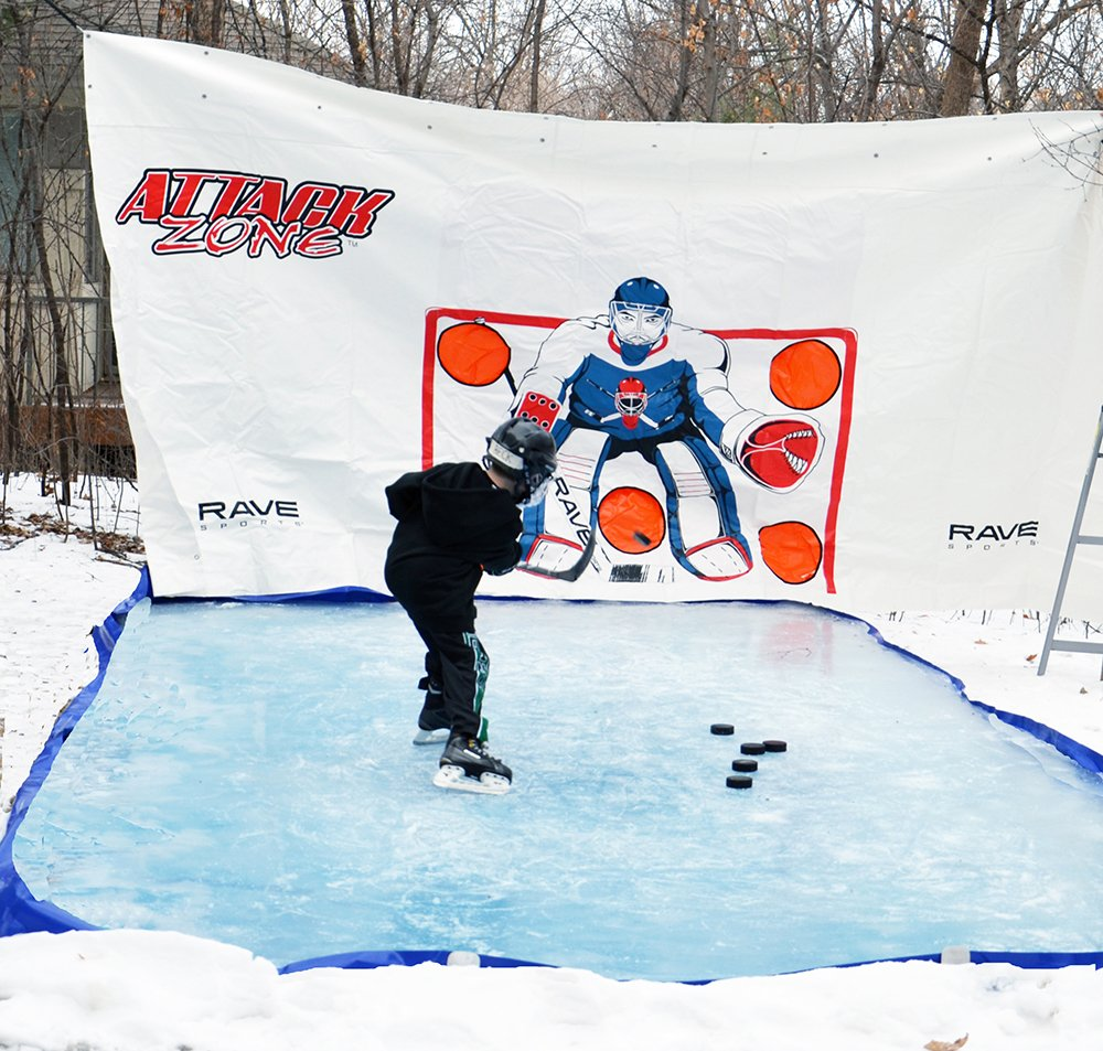 RAVE Sports Attack Zone 16' x 8' Hockey Shooting Tarp by RAVE Sports (Image #3)