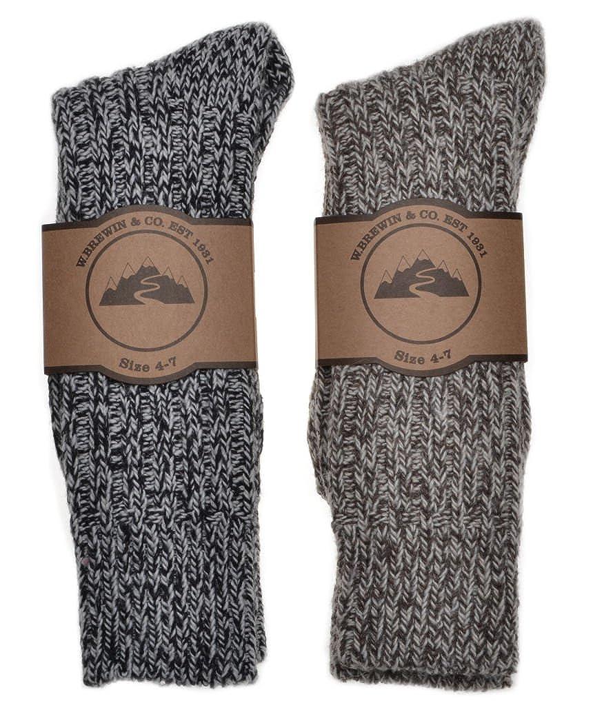 2 Pairs of Thick & Warm Wool Blend Ladies socks