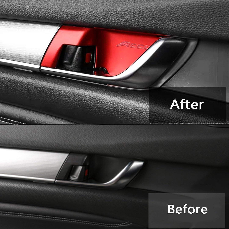Xotic Tech 2pcs ABS Chrome Rear View Side Door Mirror Strip Cover Trim for Honda Accord 2018-2019