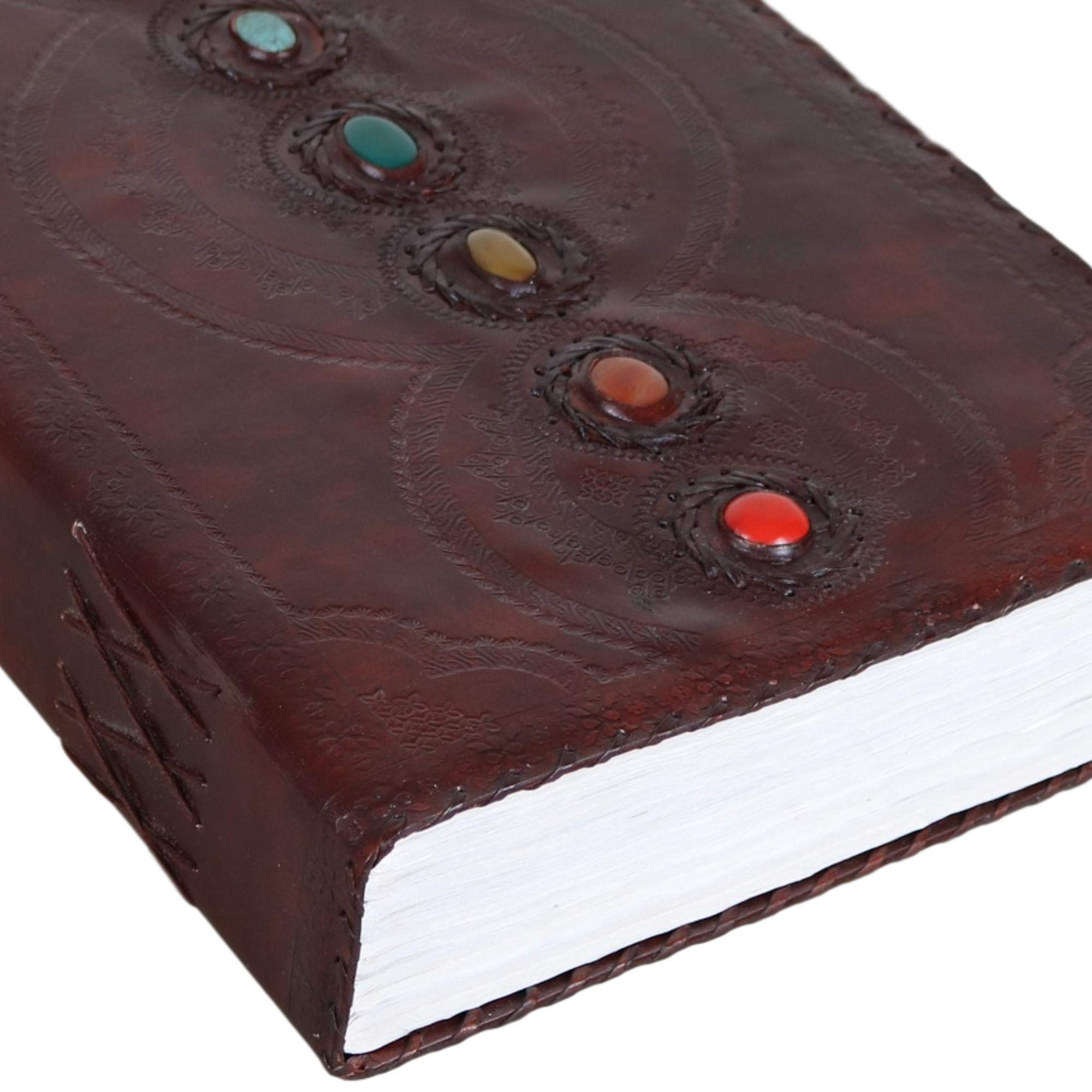 Seven Stone Leather Journal Handmade Notebook Unlined Blank 600 Pages 13 1/2 X 22 inches by  (Image #5)