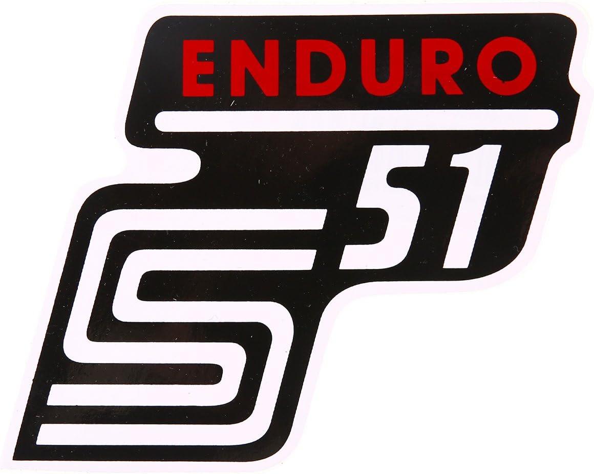 Mza Klebeschriftzug S51 Enduro Rot Auto