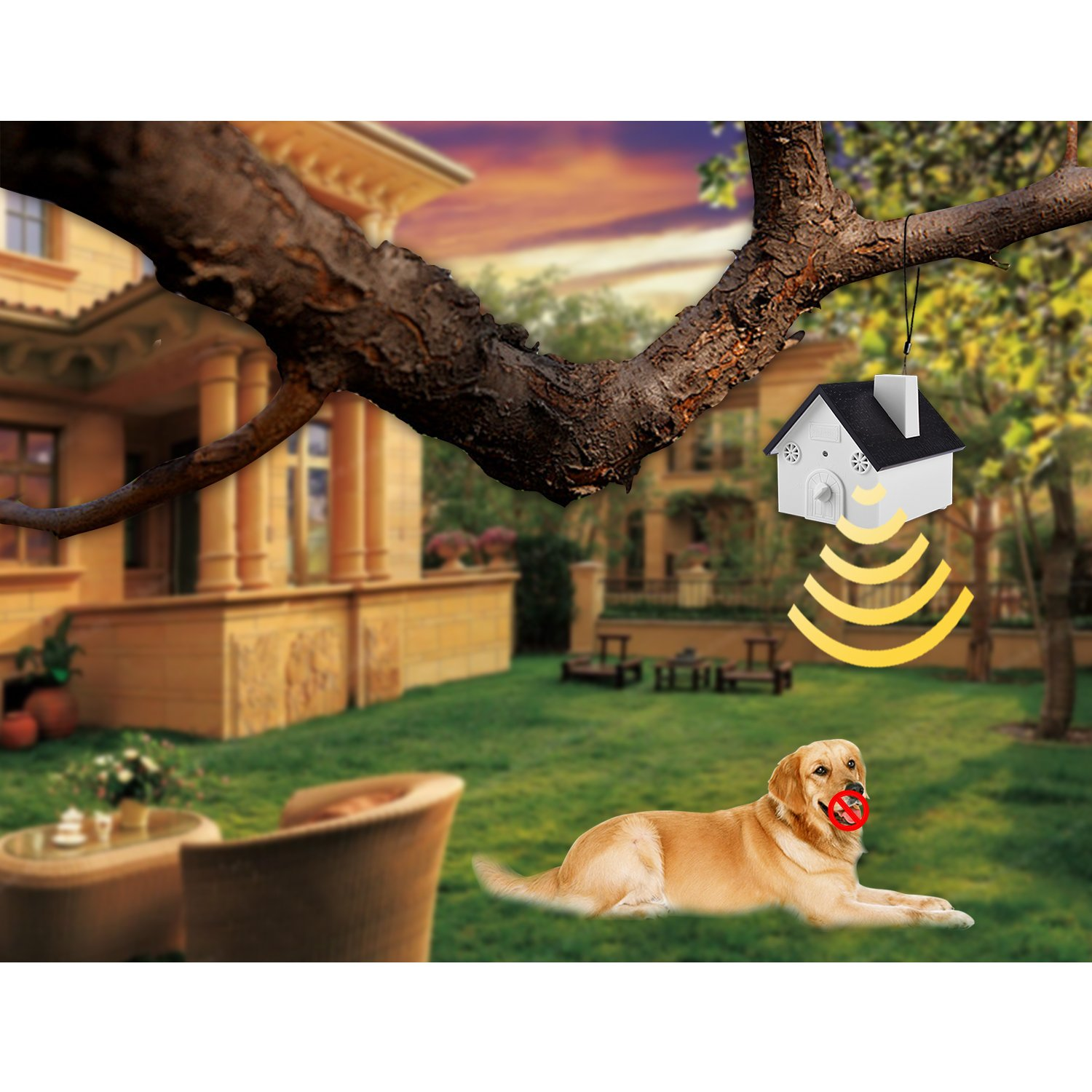 Smarlance Ultrasonic Outdoor Bark Controller No Harm to Dogs Or Other Pets, Plant, Human,Easy Hanging Bird House Designed with Anti Barking Device Ultrasonic Training Dog Stop Barking by Smarlance (Image #2)