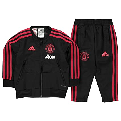 5253d8456b5 adidas Manchester United FC Official 2018 19 Presentation Tracksuit -  Infant - Black - Age