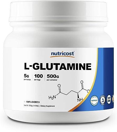 Nutricost L-Glutamine Powder 500 Grams Unflavored – Gluten Free Non-GMO