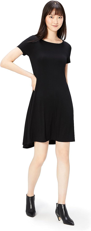 Amazon Brand - Daily Ritual Women's Jersey Short-Sleeve Bateau Neck Dress