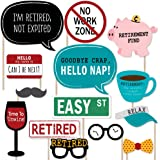 Retirement - Photo Booth Props Kit - 20 Count
