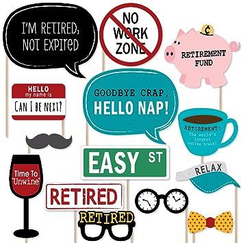 amazon com big dot of happiness retirement photo booth props kit