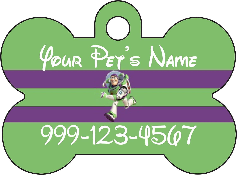 Amazon Com Udesignusa Disney Toy Story Buzz Lightyear Dog Tag Pet Tag Id Personalized W Name Number Pet Supplies