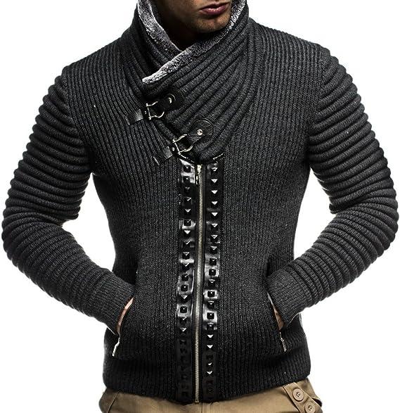 Leif Nelson Men Cardigan Jacket Shawl Collar LN-5165