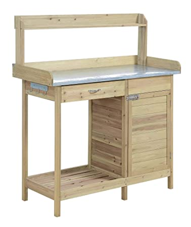 Astonishing Convenience Concepts Deluxe Potting Bench With Cabinet Pdpeps Interior Chair Design Pdpepsorg