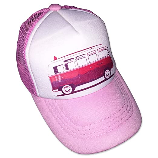 Amazon.com  Sol Baby Surf Bus Pink Infant Kids Trucker Hat  Clothing f153bda2ed9