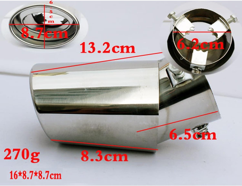99020534 terminale decorativo in acciaio inox per marmitta di scarico auto