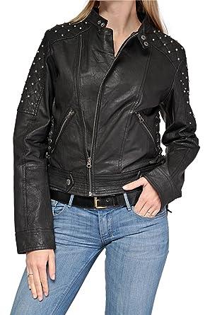 Manteau cuir femme pepe jeans
