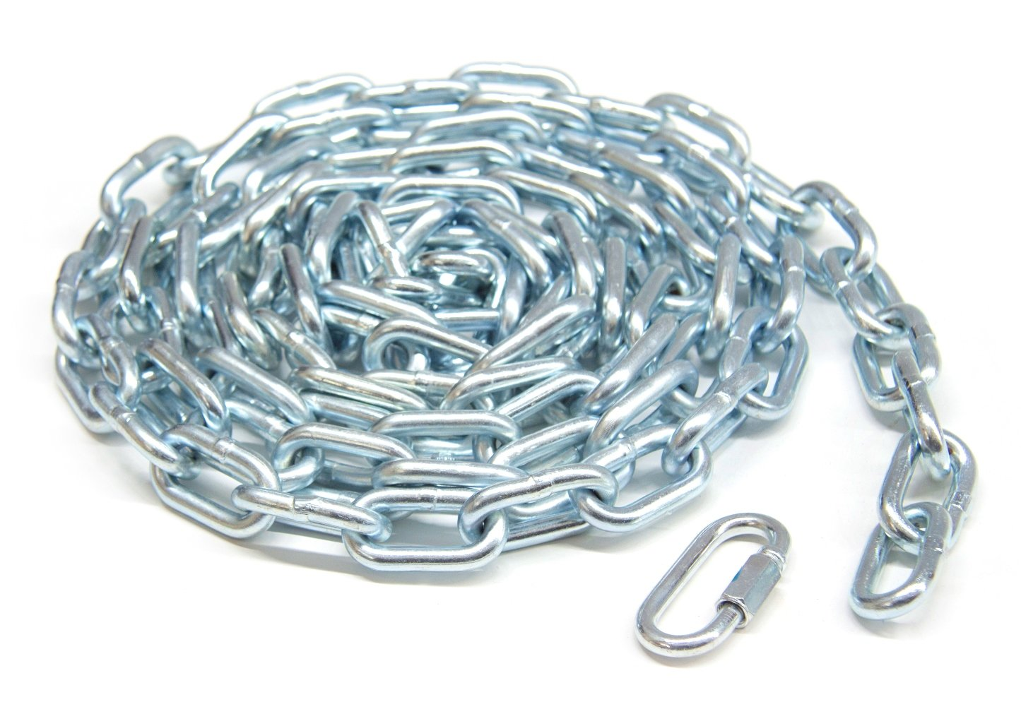 KingChain 699471 1 4 x 10' Zinc Plated Grade 30 Proof Coil Chain