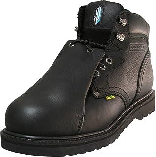2b1c785ee6e Amazon.com: Cactus Men's 8700 WINE Leather Work Boots: Shoes