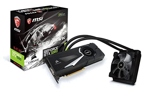 227 opinioni per MSI GeForce GTX 1080 Sea Hawk X Watercooled Scheda Grafica, Interfaccia PCIe