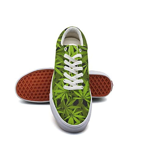 03335770d Girls Cannabis History Plant Canvas Shoes Classic Breathable Lace-up Shoes  for Women