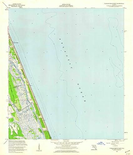 Amazon.com : YellowMaps Flagler Beach East FL topo map, 1 ...