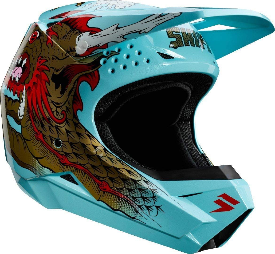White//Large Shift Racing Whit3 Caballero X Lab Mens Off-Road Motorcycle Helmet