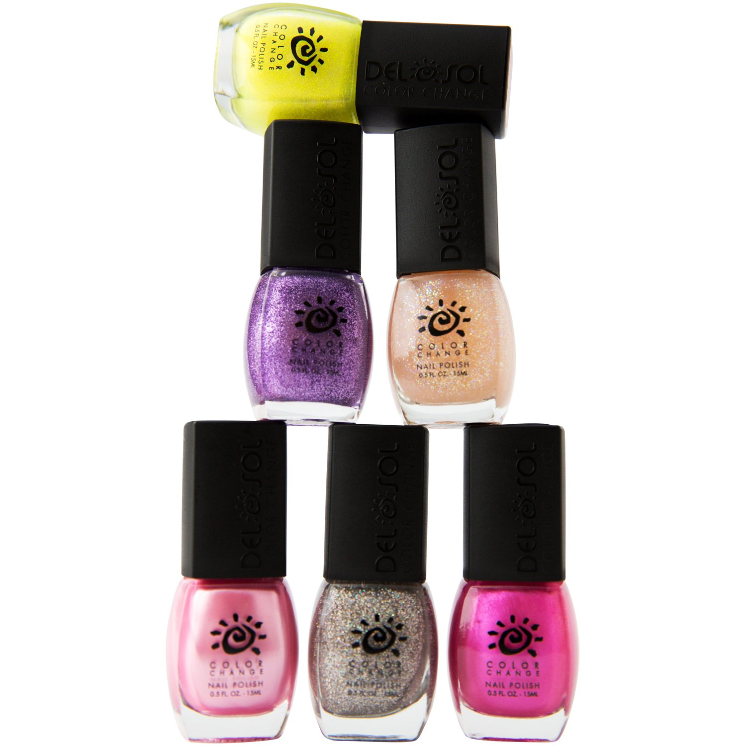 Amazon.com : Del Sol Color Changing Nail Polish - Summer 6 Pack - Set of High Quality, Nail Lacquer that Adjusts Hue in the Sun! : Beauty
