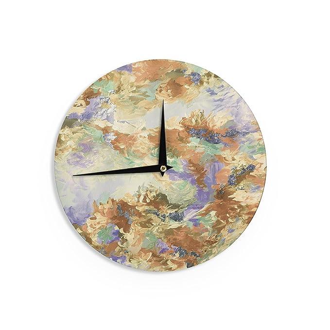 Kess InHouse EBI Emporium Off The Grid II Multicolor Painting Wall Clock 12
