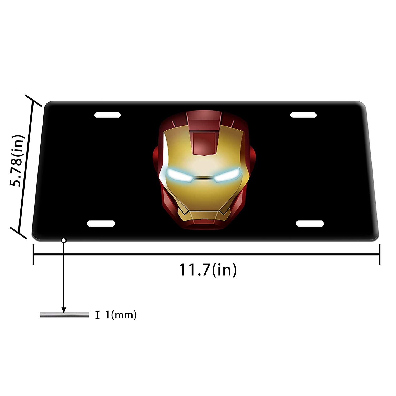 Dang Xin Ironman Metal License Plate 12/×6 inches