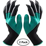 Garden Gloves with Fingertips Claws Quick– Great for Digging Weeding Seeding poking -Safe for Rose Pruning –Best Gardening Tool -Best Gift for Gardeners (Claws on EACH hand 2 Pairs)