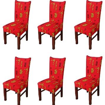 6 Pieces Universel Housse De Chaise Decoration Diner De Noel Party