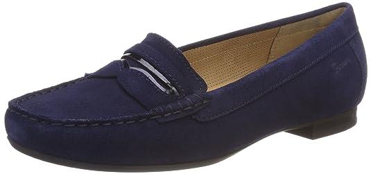 Sioux Zenti, Mocasines para Mujer, Azul (Atlantic 008), 38.5 EU