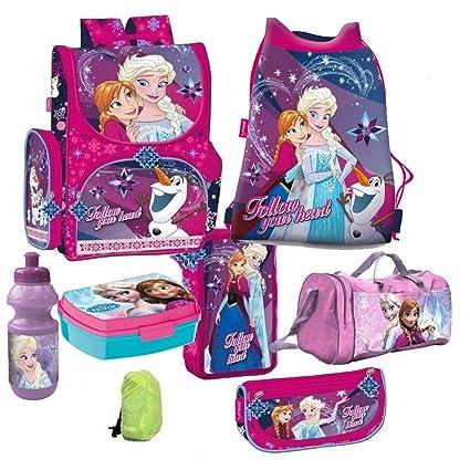 Frozen die Eiskönigin Disney 8 Teile Schulranzen Tornister mit Sticker von Kids4shop RANZEN Schulrucksack Federmappe Tasche S