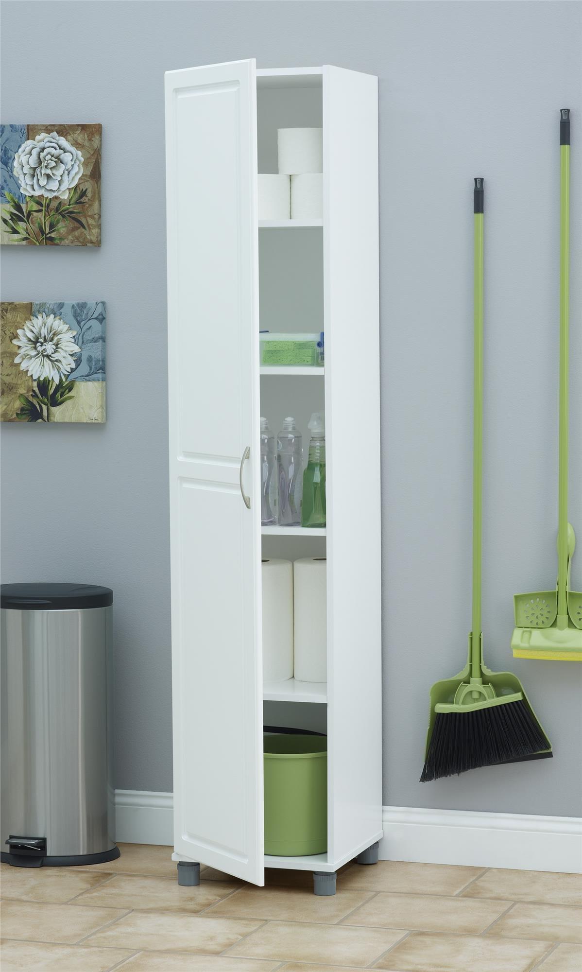 Ameriwood SystemBuild Kendall 16'' Storage Cabinet, White Stipple