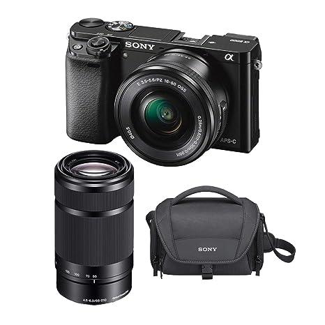 Sony A6000 Cámara sin Espejo de 24,3 MP con Lente de 16-50 mm y 55 ...