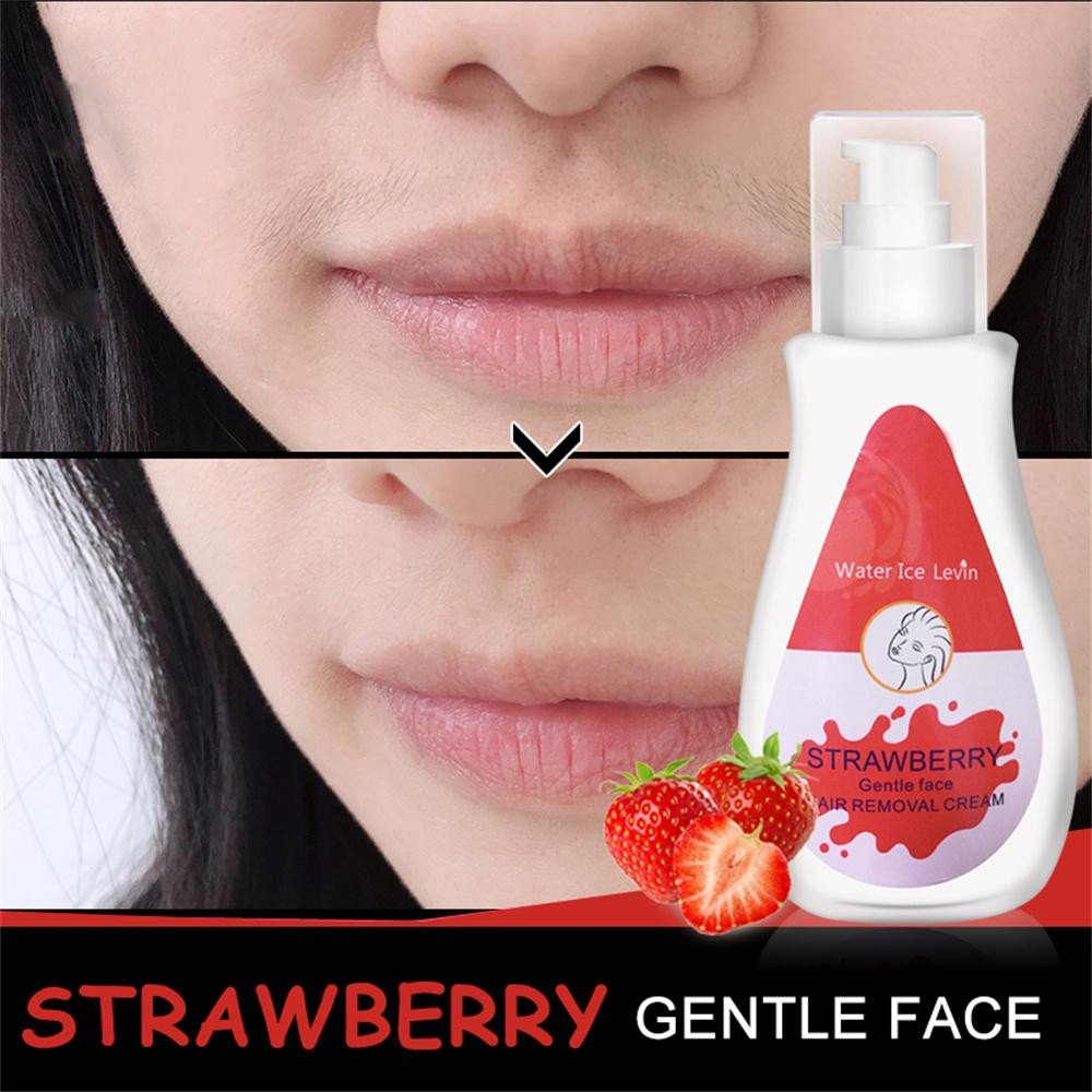 Iusun Facial Hair Removal Cream Unisex Premium Without Irritation Neutral Depilatory Painless Flawless Fast for Soft Skin Care Long Last Smoothness