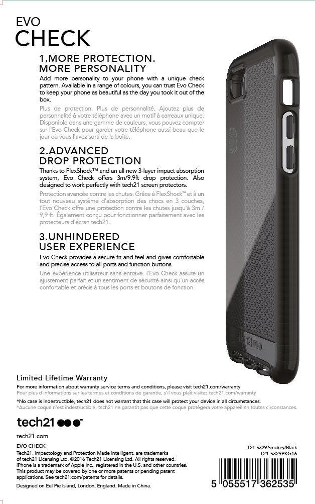 Tech21 Evo Check Case for Iphone 7 - Smokey/Black