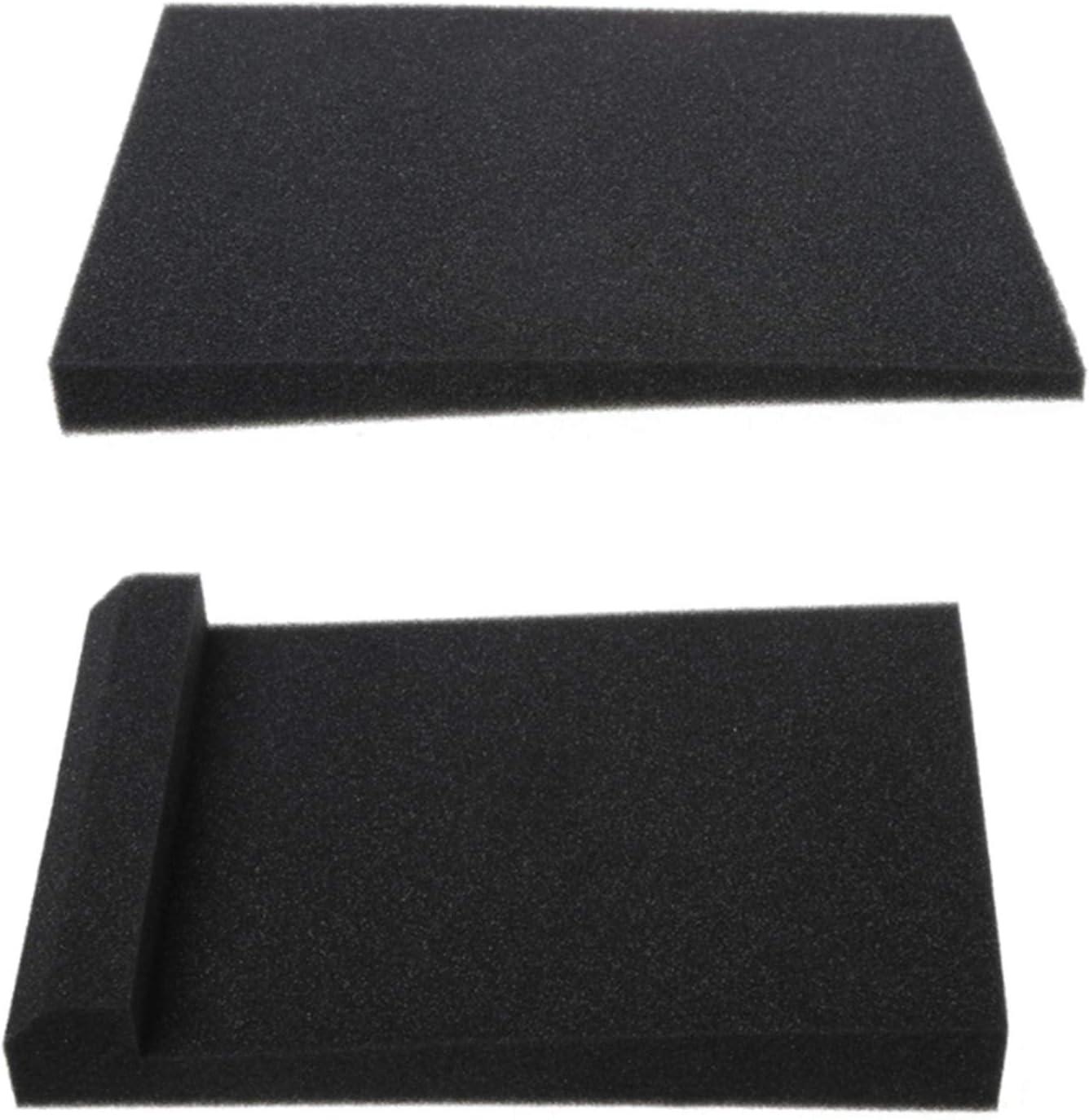 Vaorwne 1 Set 2pcs Sponge Studio Monitor Speaker Acoustic Isolation Foam Isolator Pads Soundproofing Foam 11 8x7 8x1 8inch Amazon Com