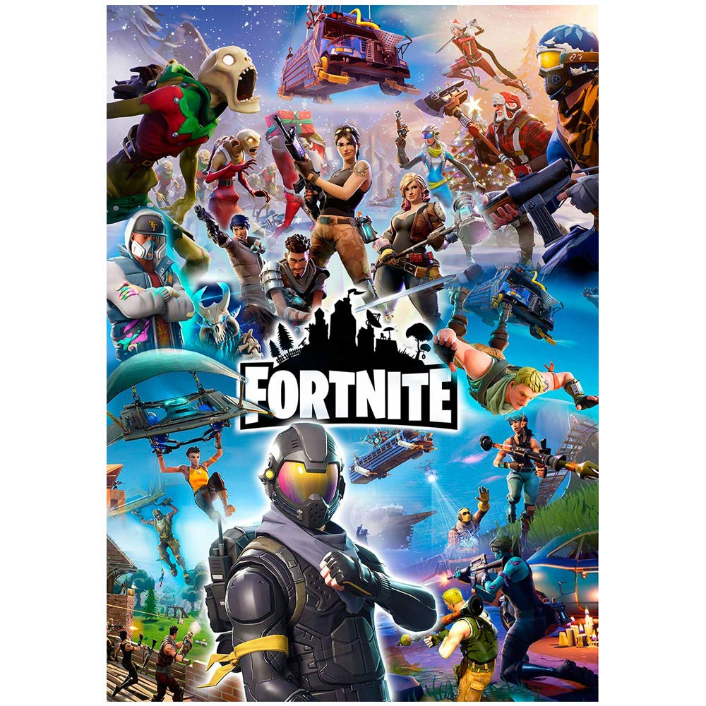Fortnite Poster | Wall Art Game Poster | Boys Girls | A4 or A3 | 200gsm | Best birthday gift ever (A3 (297x420mm)) Kids Game Posters